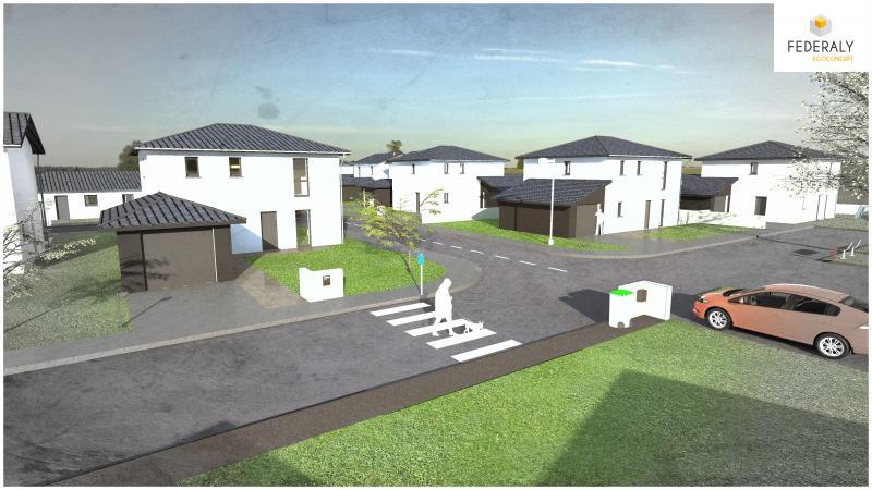 Federaly | Réalisation de perspectives APS d'un projet immobilier sur la commune de Saint-Prim