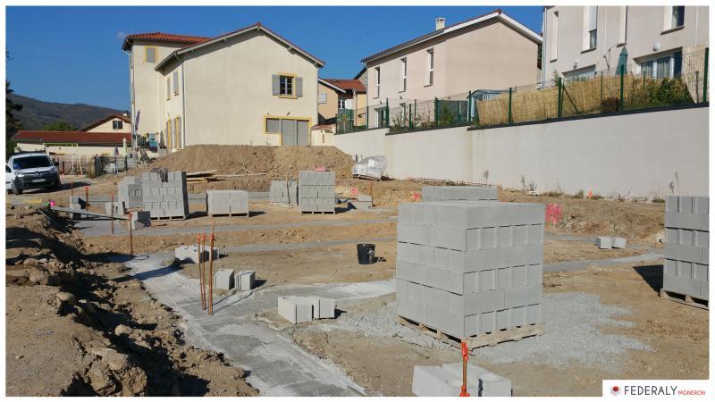 Federaly | En cours : Chantier de 4 villas sur la commune de Vaugneray pour le promoteur CERFII