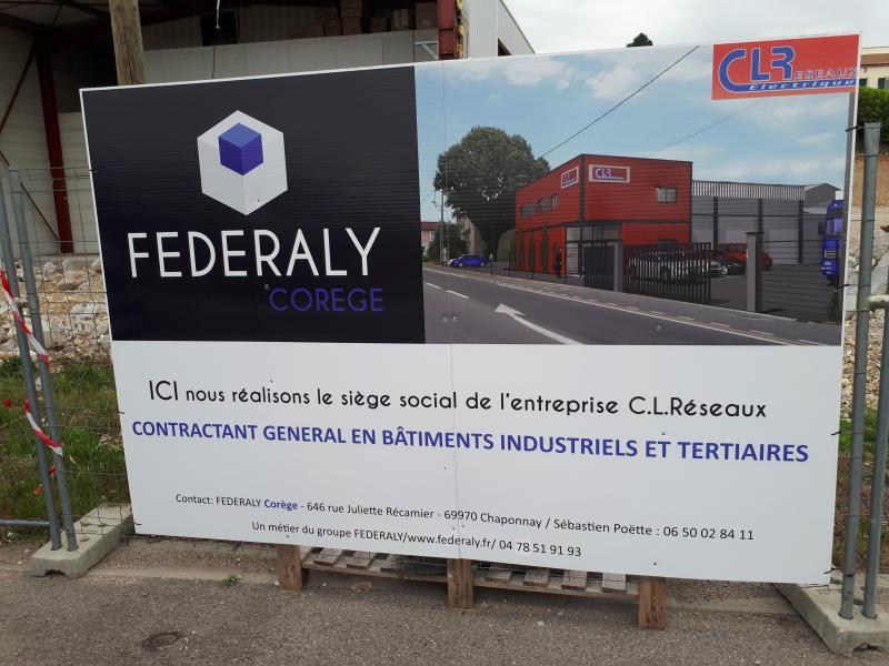 """Federaly   Nouveau chantier : """"CL Réseaux"""" à Chanas (38)"""